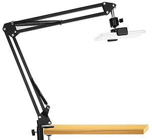 overhead table attachment for filming baking/cooking videos