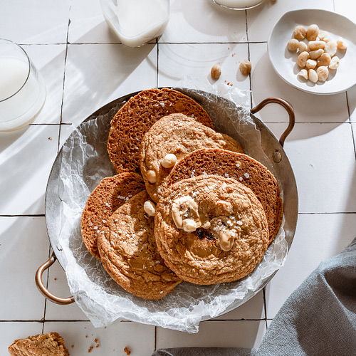 Styling cookies in a bowl for a cozy mood