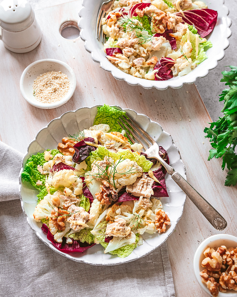 steps to photograph and style salads