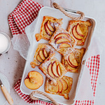 Hot Peach Danishes on for a morning farmhouse breakfast